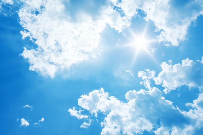 瞑想でストレスや雑念が消えるのは、空の天気に例えられる
