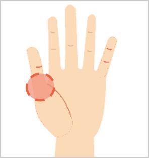 指ヨガで膝の痛みを軽減